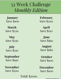 52 Week Savings Challenge, Money Saving Challenge, Money Saving Tips, Saving Ideas, Money Tips, Savings Plan, Budgeting Money, Ways To Save Money, Money Management