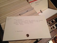 Check out this item in my Etsy shop https://www.etsy.com/listing/194434310/dewey-decimal-library-card-catalog-cards