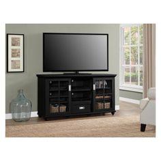 Eagle Furniture Oak Ridge 55 in Plain Glass TV Stand PL