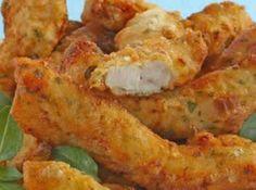 Isca de peito de frango com patê de alho: