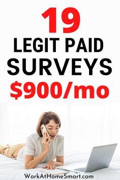 Best Paid Online Surveys, Legit Paid Surveys, Surveys That Pay Cash, Online Survey Sites, Make Money From Home, Way To Make Money, Survey Design, Make It Rain, Making Extra Cash