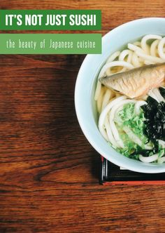It's not just sushi – the beauty of Japanese cuisine aka what to eat in Japan?