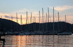 Sunset at the Fethiye Marina, Turkey.