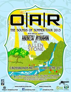 O.A.R. in the #CrossroadsKC. June 21st! For more info - check out www.facebook.com/itsmammoth