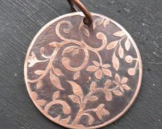 Etched Copper Disc