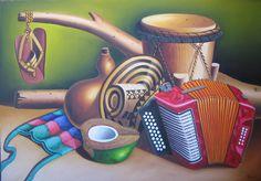 cuadro típico, región caribe colombiana,  Miguel Tapia Musica, Pintura, Art
