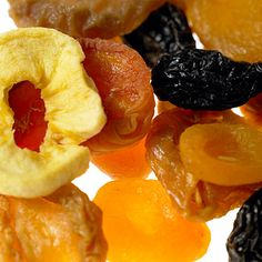 30 Healthy Foods That Could Wreck Your Diet -  Dried fruits are just normal fruits that have had the water taken out of them. So, a cup of dried fruit packs five to eight times more calories and sugar than a cup of the fresh stuff. Here's some perspective: a cup of fresh grapes is 60 calories, while a cup of raisins is a whopping 460.  Get it guilt-free: Go for fresh fruit whenever possible. Use dried fruit sparingly as a garnish, not as a snack. | Health.com