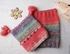 Купить Шапка и снуд для девочки. Вязаный комплект из толстой пряжи. Шапочка с - шапка и снуд купить