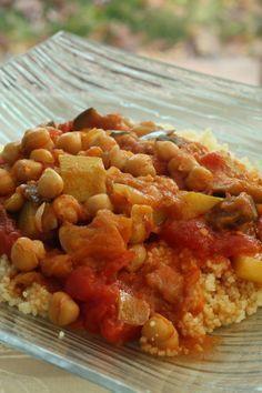 Curry d'aubergines et pois chiche au Cookéo
