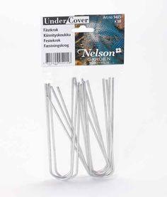 Bøjle til at fastgøre net/dug i galvaniseret stål