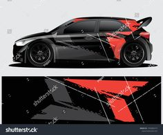 Similar Images, Stock Photos & Vectors of Rally car decal graphic wrap vector, abstract background - 1499527247 Car Stickers, Car Decals, Vw Lupo Gti, Scion Xd, Tuner Cars, Audi Cars, Rally Car, Car Wrap, Automotive Design