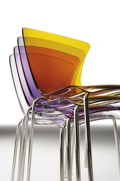 Stackable polycarbonate chair GLOSSY  - @infinitidesign