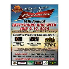 Hope to see you there! Great event! #flbd #bikersofpinterest #bikers #motorcycle #gettysburgbikeweek