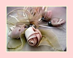 Fabric flowers Romance