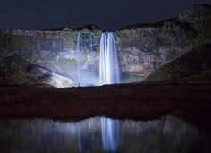 beautiful Icelandic waterfalls