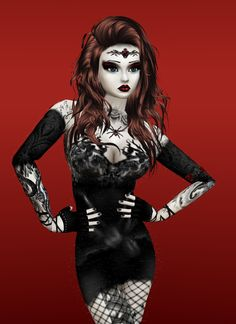 Emo Girls Captured Inside IMVU - Join the Fun!