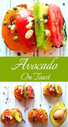 Best Brunch Recipe - Avocado on toast with pina colada guacamole. Top with cashews to give it a nice crunch.  An avocado recipe doesn't get any more delicious than this.  Quick appetizer recipe.