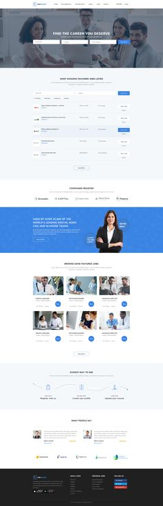 JobSeeker - Job Portal PSD Template #psd #career #education • Download ➝ https://themeforest.net/item/jobseeker-job-portal-psd-template/18809244?ref=pxcr