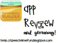 Speech Time Fun: Conversation Builder App Review & Giveaway