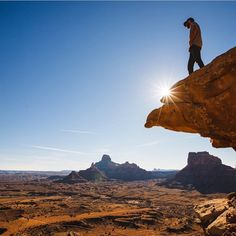 There's over 2,000 square miles of public land in this area of Utah. Andy looking over just a small but beautiful portion of it...   Photo: Jeff Spackman   #GreetTheOutdoors