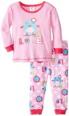 Amazon.com: Gerber Baby Girls Two-Piece Thermal Pajamas: Clothing Girls