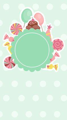 Cute Cartoon helado piruletas de caramelo el Fondo H5 Candy Background, Flower Background Wallpaper, Flower Backgrounds, Candy Theme, Candy Party, Logo Dulce, Fond Design, Candy Drawing, Ramadan Cards