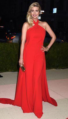 Scarlet Red Ralph Lauren jumpsuit - Met Gala 2016