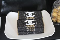 Chanel Themed Party candy favor idea