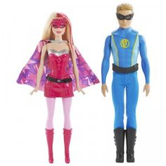 Includes two superhero Barbie and Ken dolls based on the new Barbie in Princess Power movie.