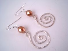 Hammered Silver Swirl Earrings  Hammered by Sparkleandswirl, $15.00