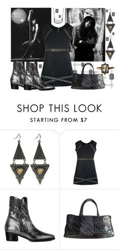 """""""New Years Eve Disco Party Style"""" by gabriele-bernhard ❤ liked on Polyvore featuring Wet Seal, GUESS by Marciano, Modern Vice, Bottega Veneta, modern, pvstyleinsider, ModernViceContest and donnadayboots"""