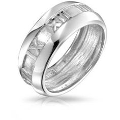 silver-ring-roman-numeral Best Deal Bling Jewelry Numero Uno Ring