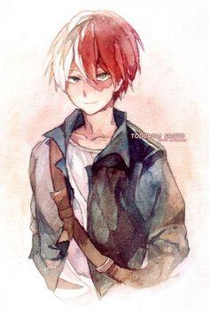 My Hero Academia (僕のヒーローアカデミア) - Shouto Todoroki (轟 焦凍) Boku No Hero Academia Todoroki, My Hero Academia Memes, Hero Academia Characters, My Hero Academia Manga, Chibi, Bakugou Manga, Fanart, Animes Wallpapers, Cute Gay