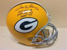 Bart Starr Signed Green Bay Packers FS Throwback Helmet Tristar HOF