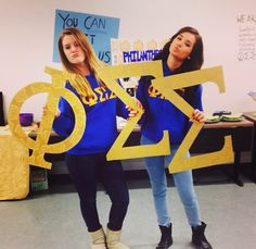 Have some letters handy at events - like formals or large recruitment events - for brothers to pose with!