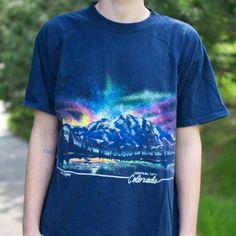 90's Colorado Aurora Borealis Tee by PaxSuburbia on Etsy