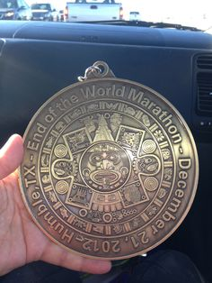 The End of The World Marathon Medal.