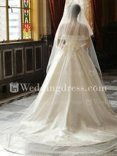 This veil <3 (Two Tiered Chapel Wedding Veil)
