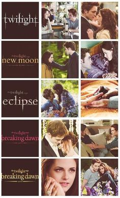 Twilight, new moon, eclipse, breaking dawn part 1, breaking dawn part 2