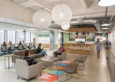offices of grocery delivery company Instacart located in San Francisco, California.