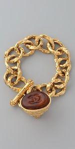 Vintage Vintage Chanel '93 Gripoix Charm Bracelet