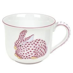 -Herend Mug With Pink Bunny