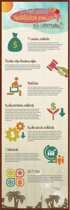 Infografika: Proč začít vydělávat peníze na internetu   BONUS!!