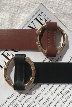 SHOP THE BONEY BELT IN BLACK AND TAN ONLINE NOW ✧・゚: *✧ Cartier Love Bracelet, Latest Fashion Trends, Bangles, Ear, Fancy, Leather, Stuff To Buy, Shopping, Bracelets