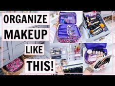 How I organize my makeup! This video is for the everyday girl and woman with a realistic amount of makeup and beauty products that would like a fast, easy, a. Diy Makeup Vanity, Glowy Makeup, Contour Makeup, Makeup Storage Organization, Organization Ideas, Diy Makeup Palette, Dollar Tree Makeup, Spring Cleaning Organization, Makeup Collection Storage