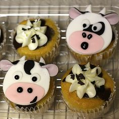 Cupcakes Take The Cake: Cow and dog cupcakes