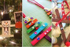 20 magnifiques bricolages de Noël à faire avec des bâtons popsicle!