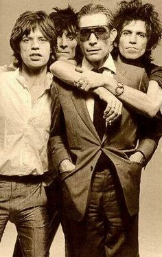 The Rolling Stones (From left to right: Mick Jagger, Ron Wood, Charlie Watts and Keith Richards). The Rolling Stones, Rock And Roll, Rock N Roll Music, Mick Jagger, Kevin Parker, Beatles, Keith Richards, Liz Phair, Beste Comics