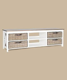 Look at this White Simone TV Stand on #zulily today!