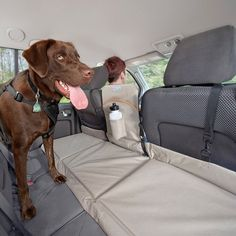 Back Seat Pet Bridge. Sturdy, rugged pad supports 100 pounds Partition creates a barrier to stop dogs from standing on the armrest or getting in the front seat Reversible design colors match your vehicle interior. Waterproof. Cup holder and pocket for storage. Universal fit.